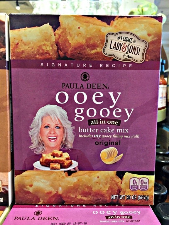 Box of Paula Deen Cake Mix