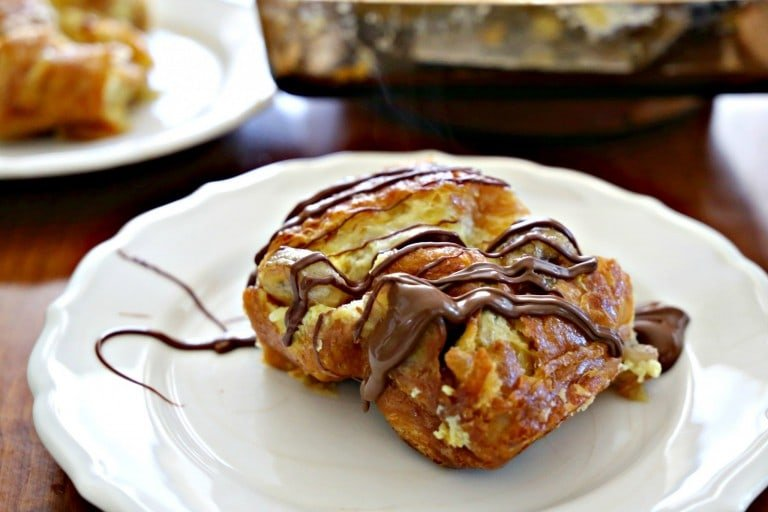 Croissant Bread Pudding from The Chew - It doesn't get any better than this.