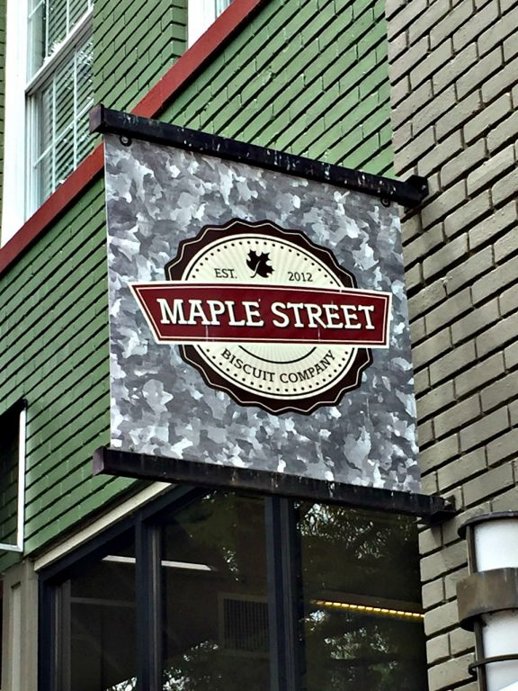 Maple Street Biscuit Company sign