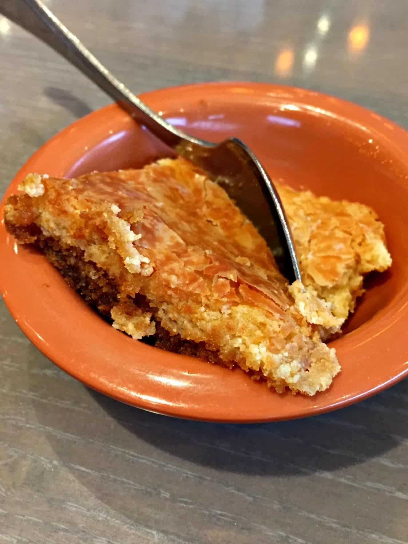 Paula Deen's Ooey Gooey Butter Cake at her restaurant in Pigeon Forge