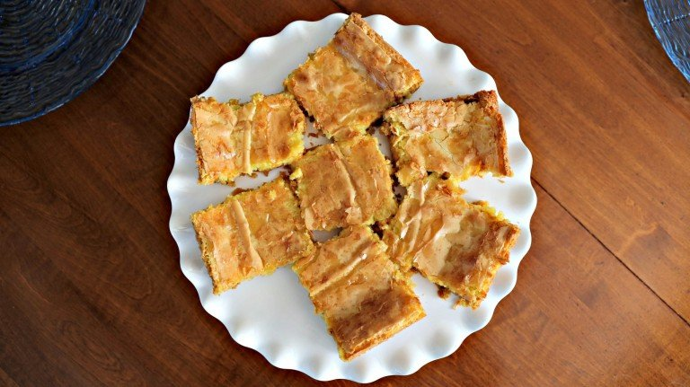 Overhead view of Cream Cheese Squares