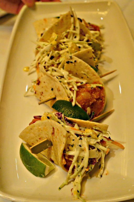 Village Tavern's delicious Shrimp Tacos