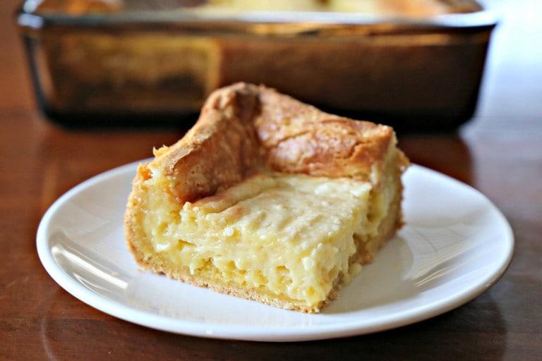 Slice of Ooey Gooey Butter Cake Clone