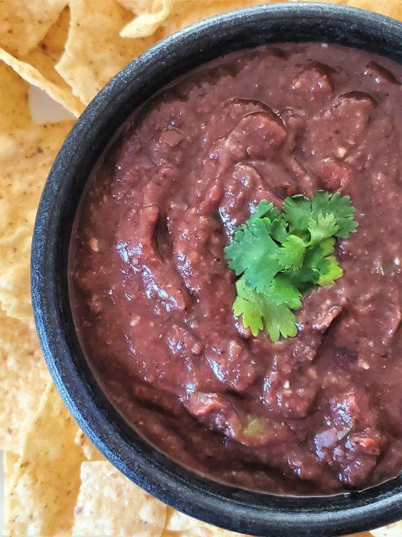 bowl of black bean dip