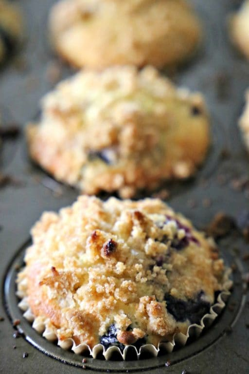 Bakery-Style Blueberry Muffins - there's no need to go to the bakery with this easy recipe.