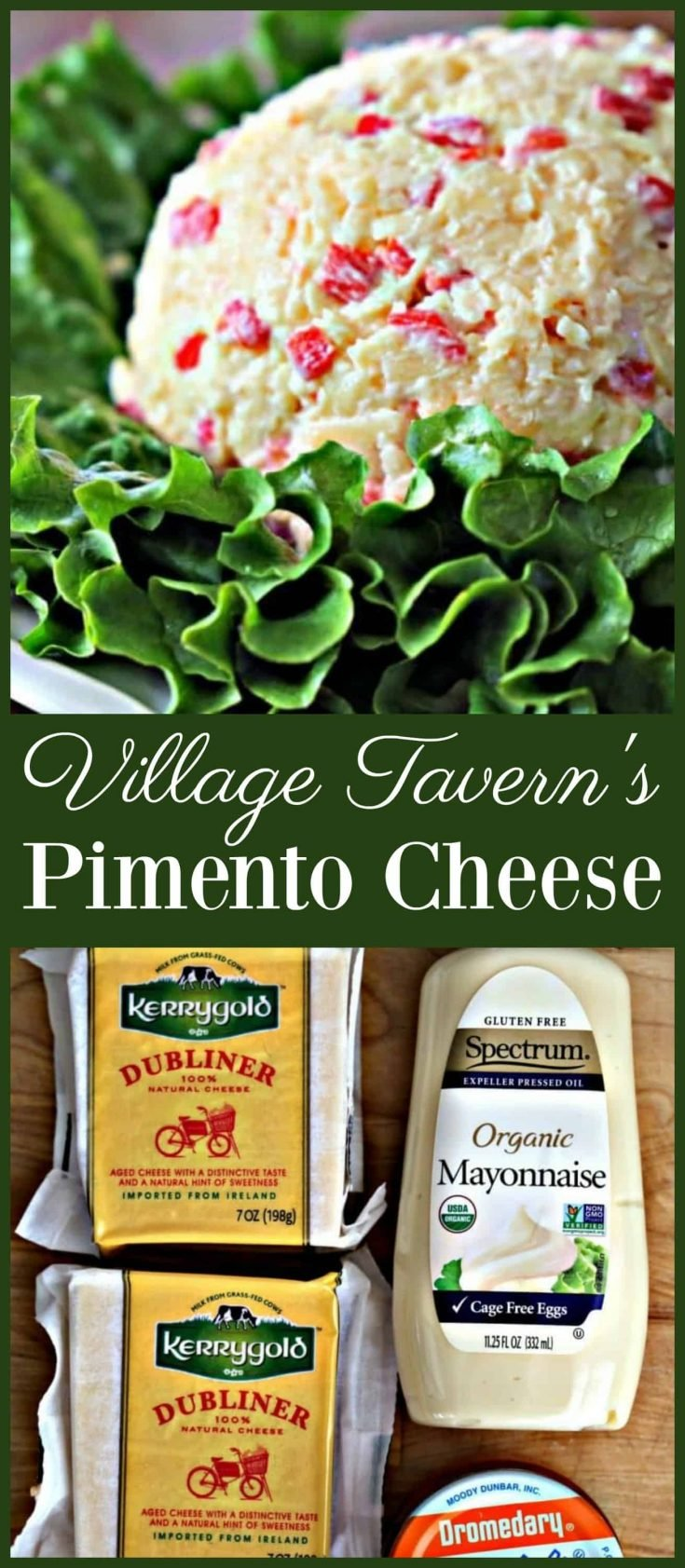 This Pimento Cheese recipe comes straight from Village Tavern.  It's creamy and delicious!
