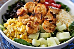 Baja Shrimp Salad with Roasted Corn