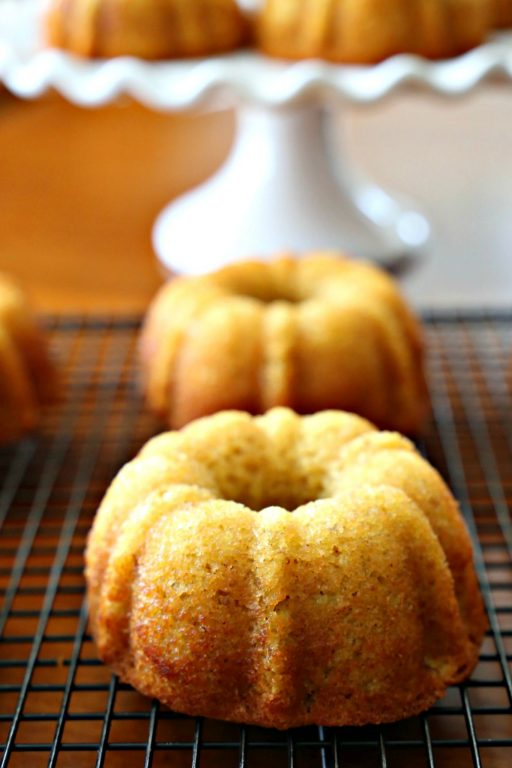 Gluten-Free Mini Banana Bundt Cakes - tender, moist crumb full of banana flavor but without any gluten. One bite and you'll be hooked.