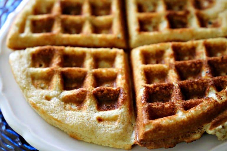 Plate of gluten-free Waffles