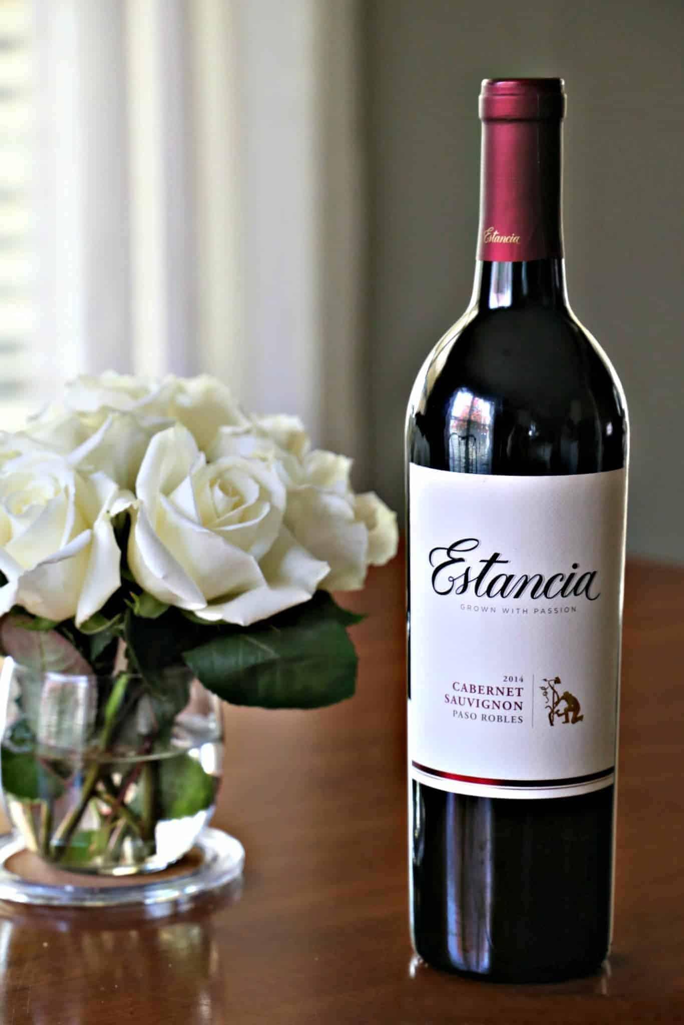 bottle of Estancia's Cabernet Sauvignon