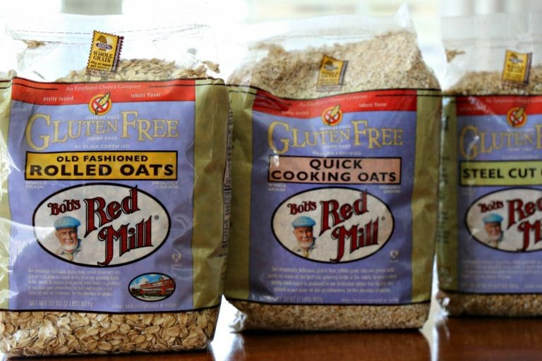 variety of Bob's Red Mill Gluten Free Oats