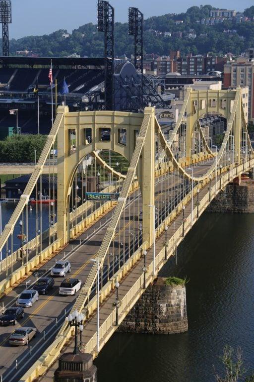 Roberto Clemente Bridge in Pittsburgh