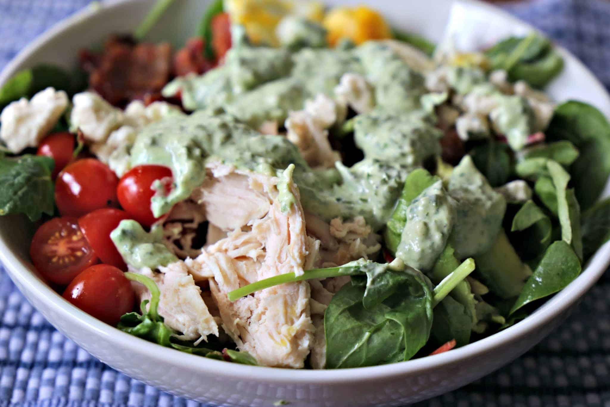 Classic Chopped Salad with Green Goddess Dressing