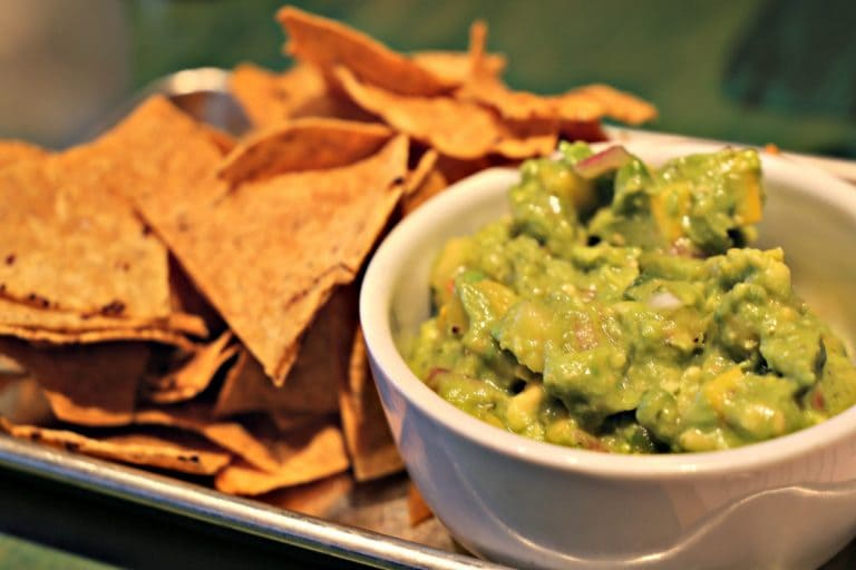 Chips and guacamole at Kaya in the Strip District in Pittsburgh