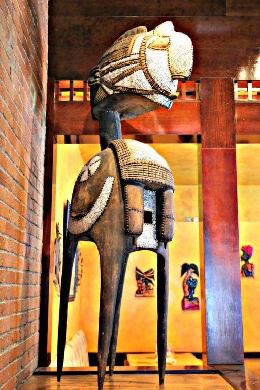 Art inside Kaya in the Strip District in Pittsburgh