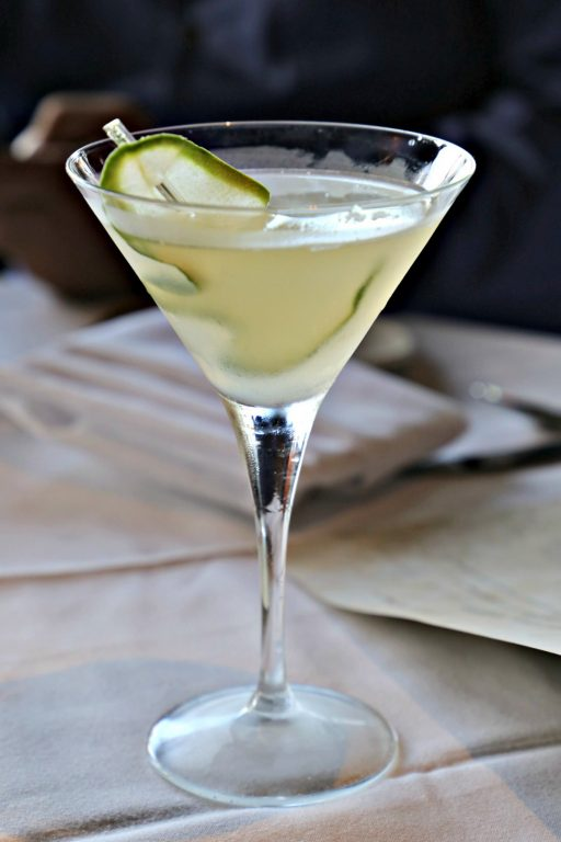 Spicy Cucumber Martini at the Grand Concourse in PIttsburgh