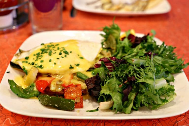 Veggie Benedict at Square Cafe in Pittsburgh