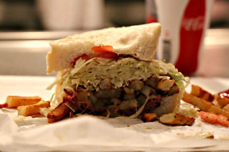 World famous Primanti Brothers sandwich in PIttsburgh