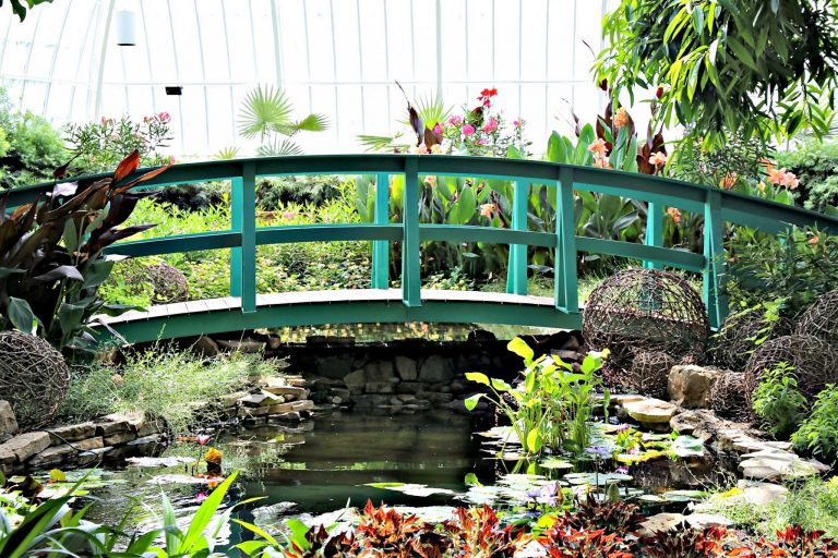 Bridge at Phipps Conservatory in PIttsburgh
