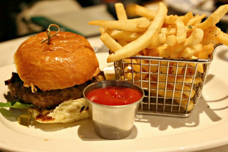 Burger and fries at The Commoner in Pittsburgh