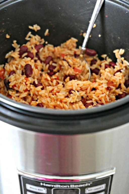 Red beans and rice in Hamilton Beach Rice Cooker