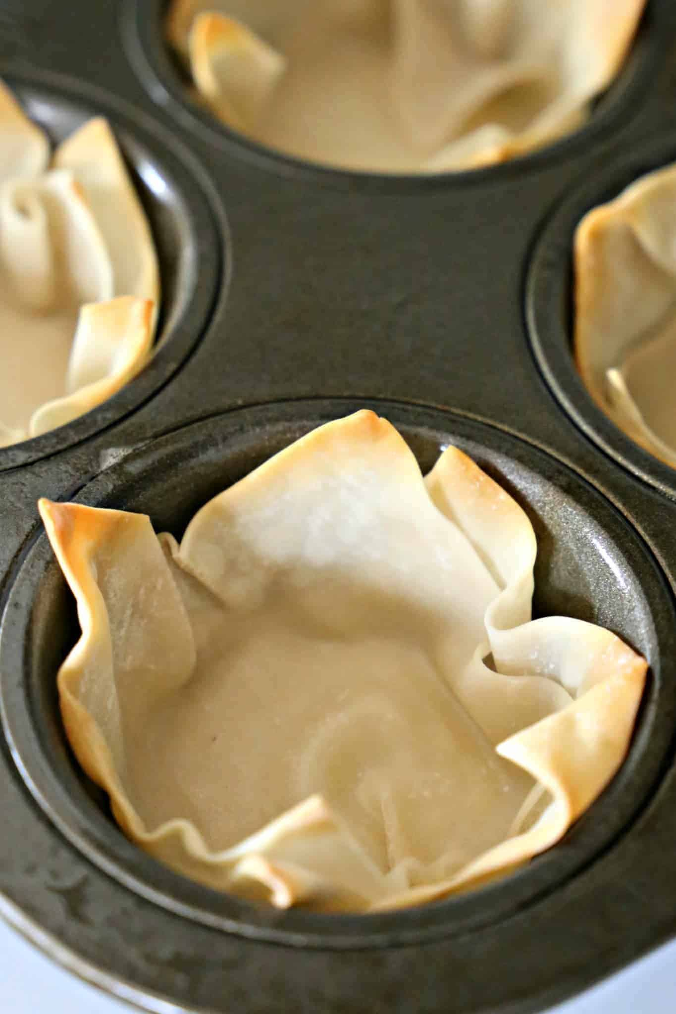 Wontons for making Mini Asian Salad Cups
