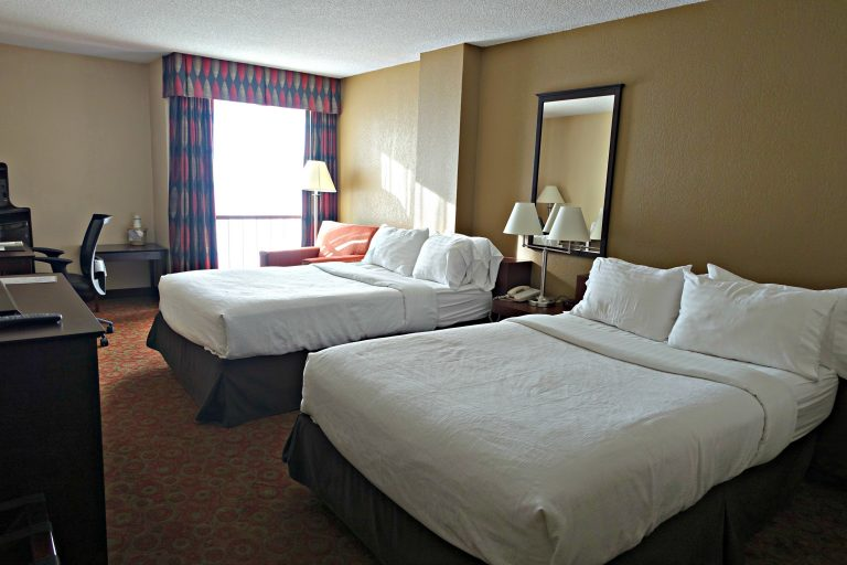 two hotel beds