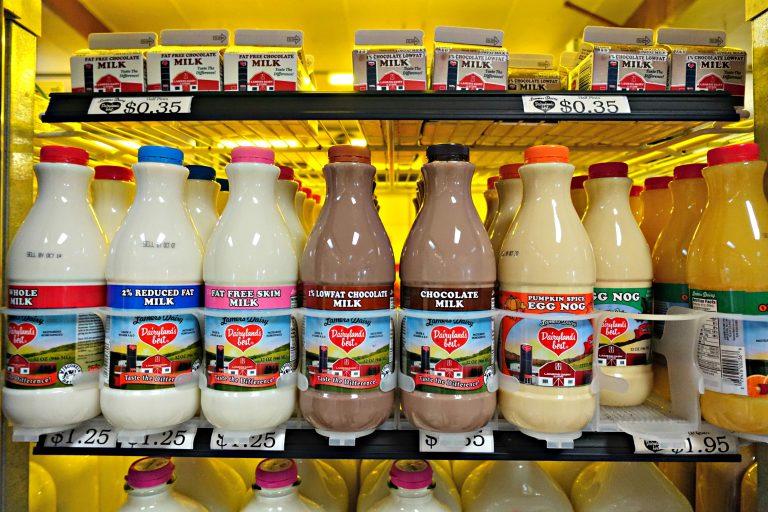 Milk at Lamers Dairy