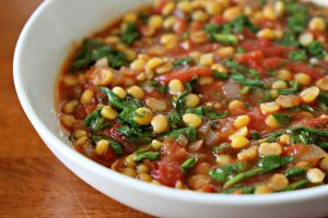 Spinach and Tomato Dal