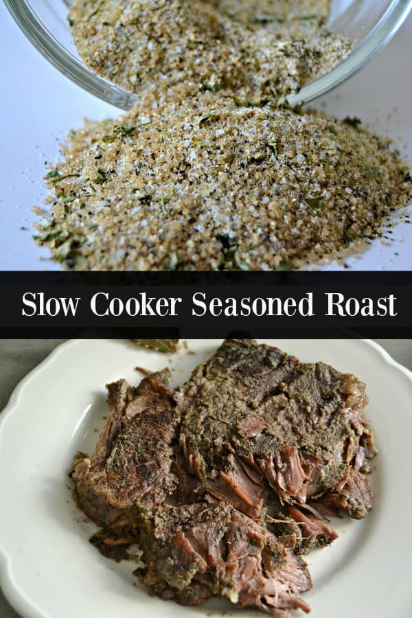 Slow Cooker Seasoned Roast made with a special homemade seasoning blend.