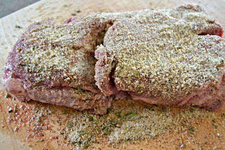 seasoned roast before cooking