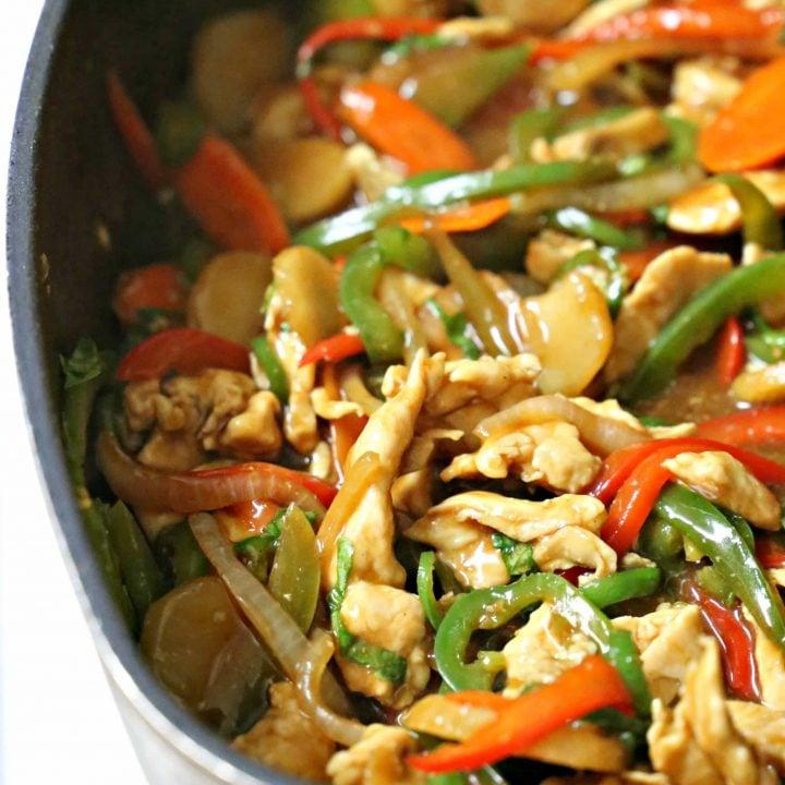 Thai Spicy Basil Chicken Stir-Fry