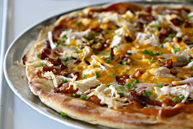 Loaded BBQ Chicken Baked Potato PIZZA