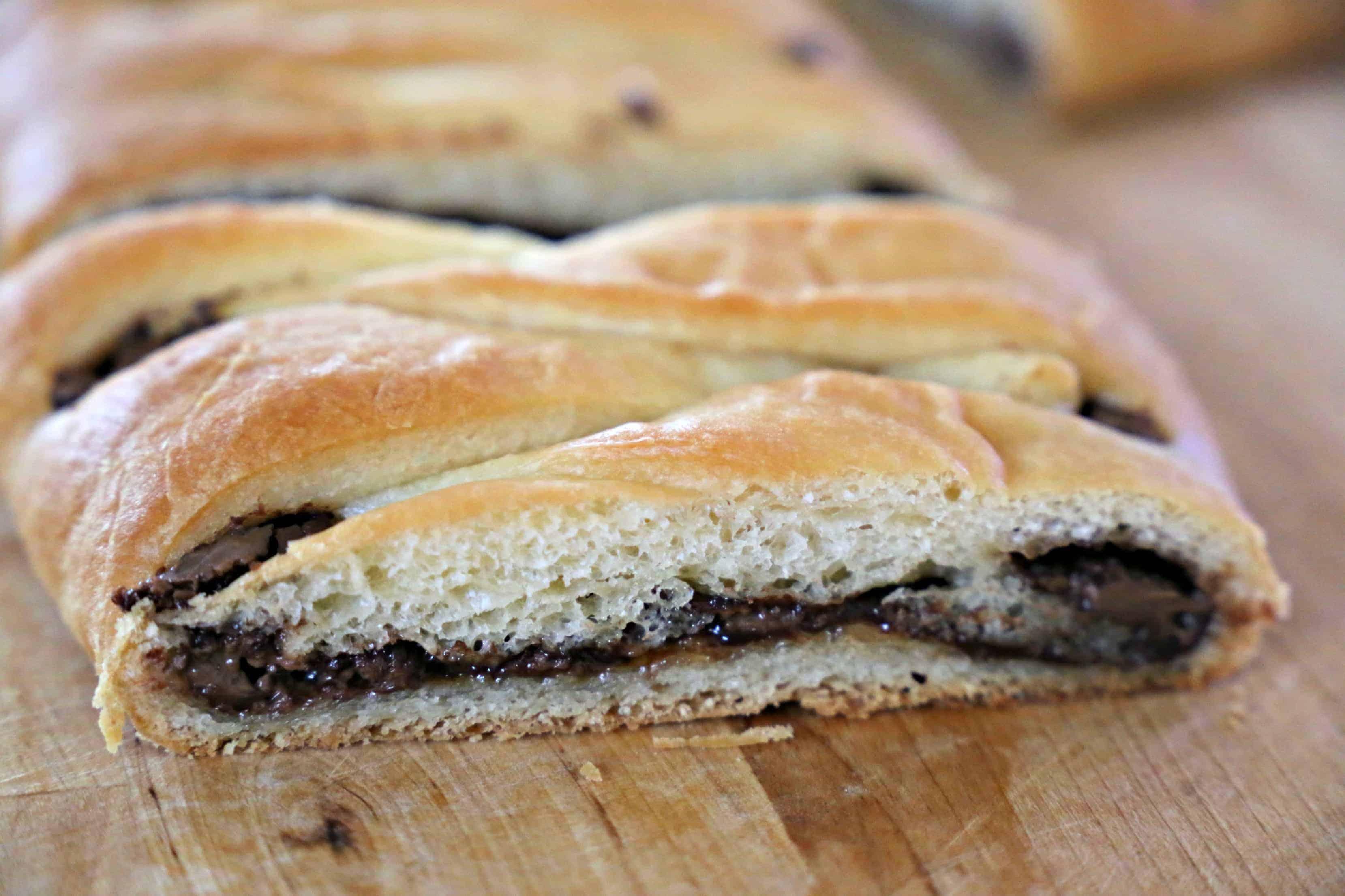 Slice of Nutella Bread