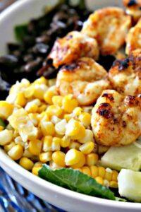 Baja Shrimp Salad with Roasted Corn