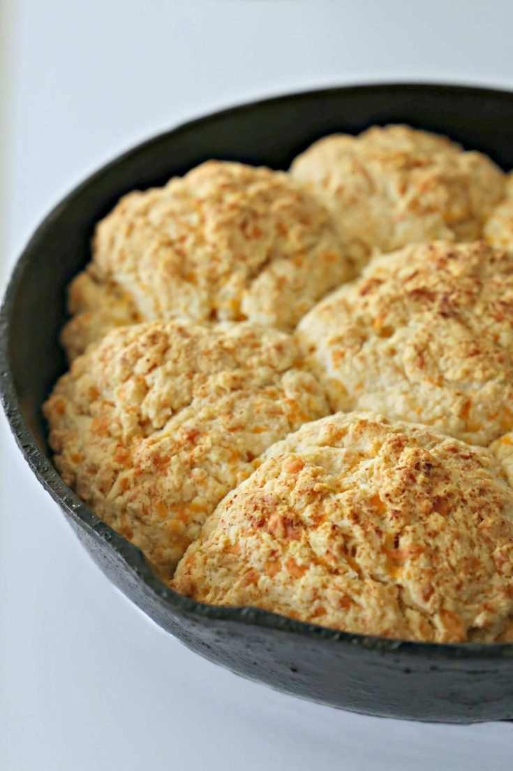 These flavorful Garlic Cheddar Buttermilk Biscuits have just the right amount of garlic and cheese and are delicious.