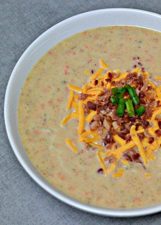 bowl of Cheesy Potato Soup