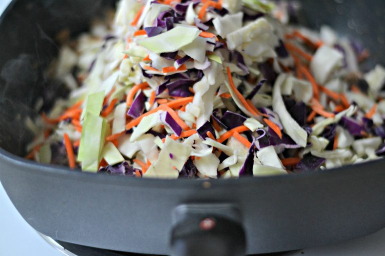 Deconstructed Egg Roll - the great flavors of an egg roll without all the carbs!