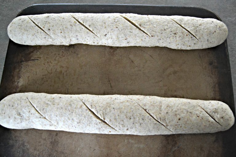 unbaked French baguettes