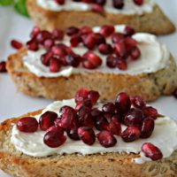 Pomegranate Crostini
