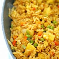 EASY COCONUT SHRIMP AND TROPICAL FRIED RICE