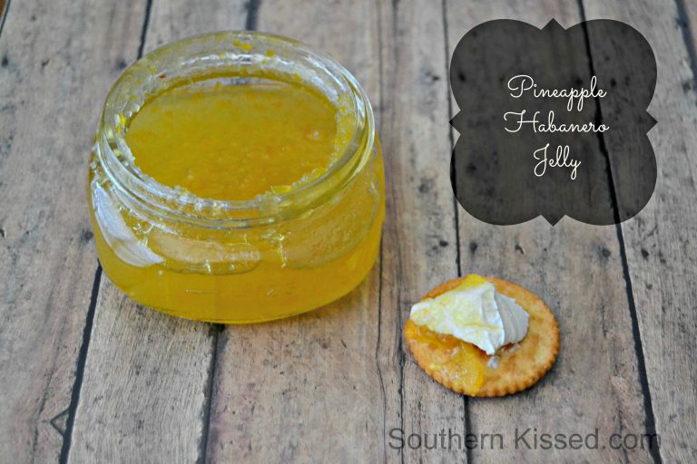 Pineapple Habanero Jelly - serve with cream cheese and crackers and you have an easy and delicious appetizer