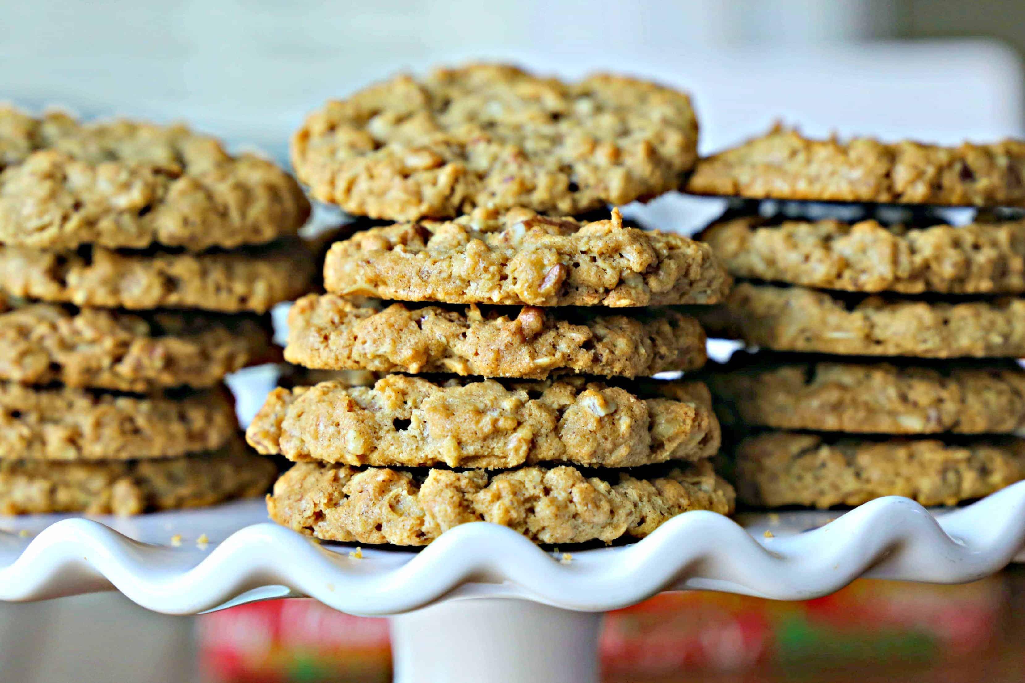 plate of pecan cookies