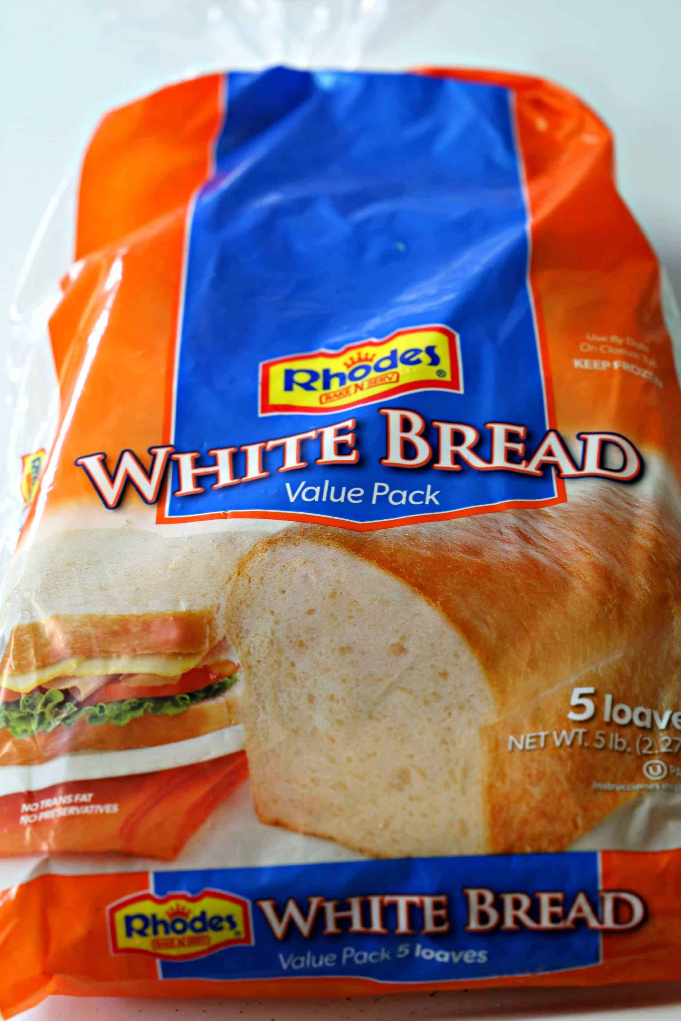 loaves of Rhodes White Bread