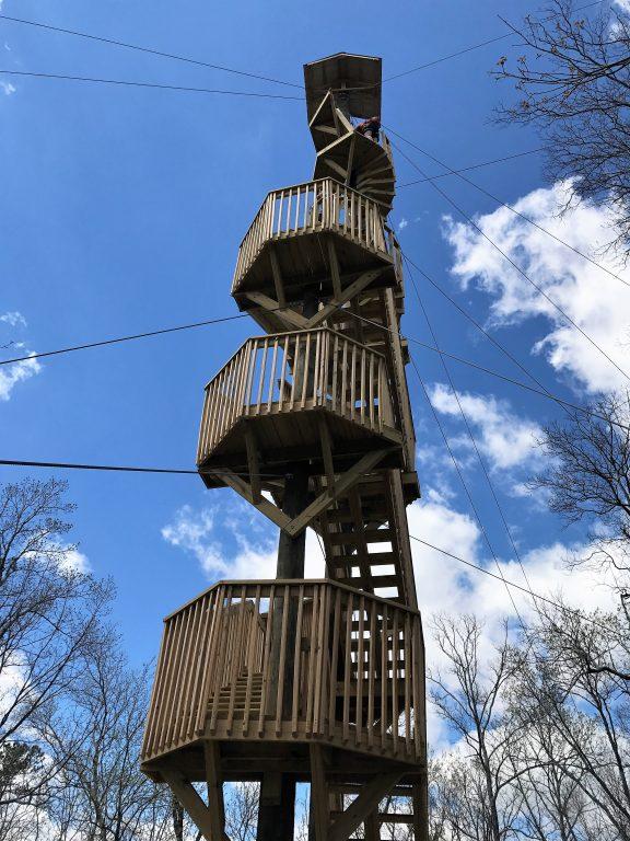 Screaming Eagle Zip Line at Lake Guntersville