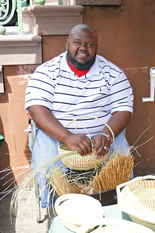 Basket weaving in Charleston, South Carolina