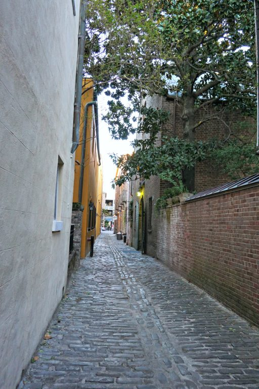 Old cobblestone alley in Charleston