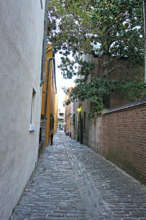 Old cobblestone alley in Charleston