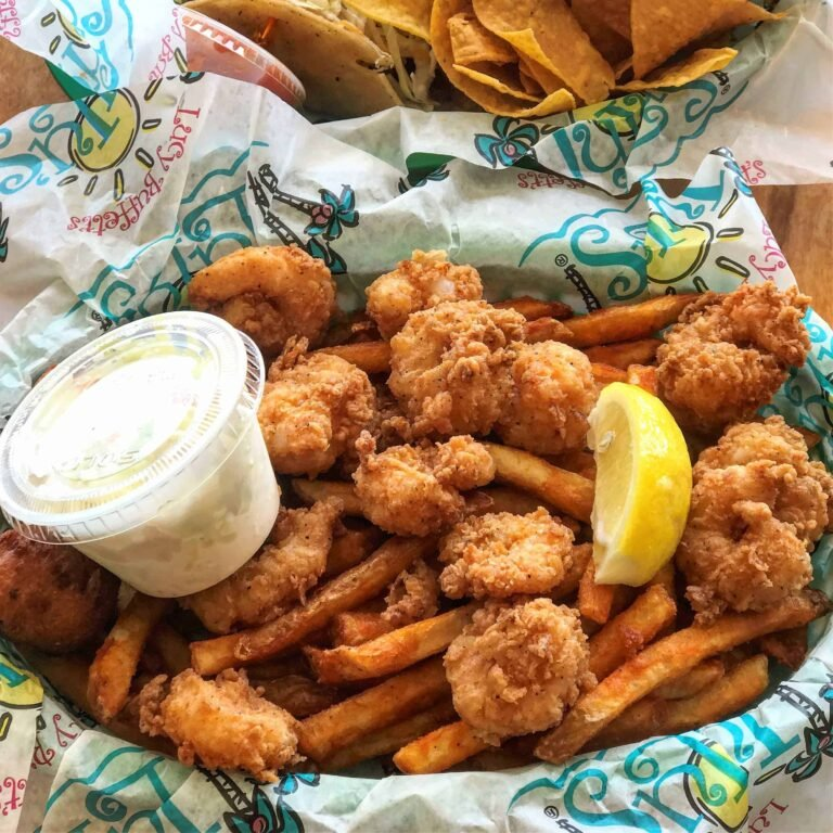 Lulu's shrimp and French fries
