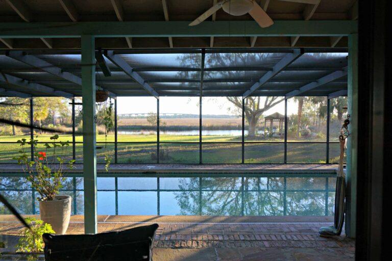 Indoor salt-water pool